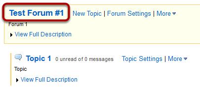 Choose a forum.