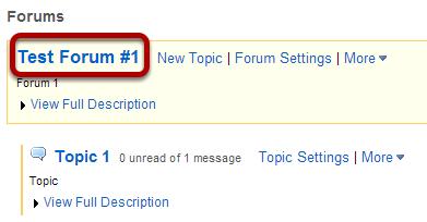 Choose a Forum