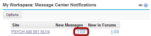 Or, go to Messages directly from your Message Center Notification links.