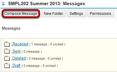 Click Compose Message.