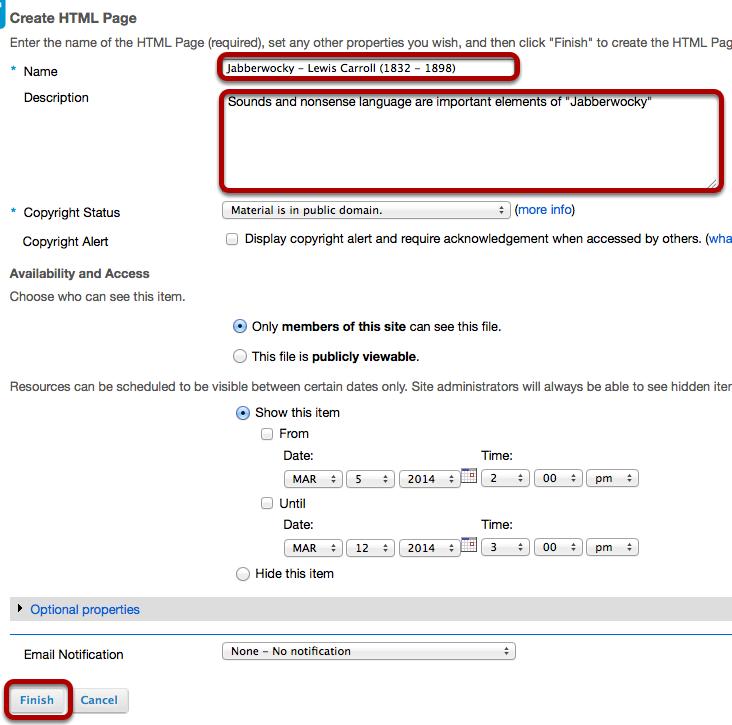 Enter document details.