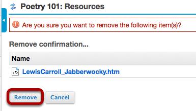 Click Remove again to confirm.