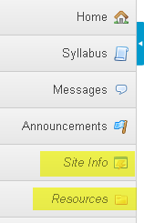 Example: Toolbar with hidden tools from the instructor's view