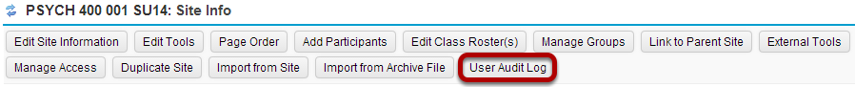 Click User Audit Log.