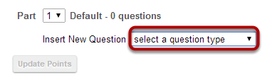 Select Copy from Question Pool from the drop-down menu.