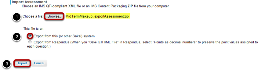 Select your file, and click Import.