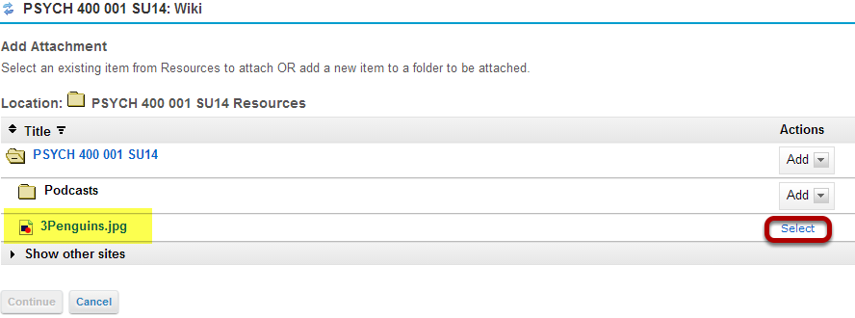 Select the image from Resources.
