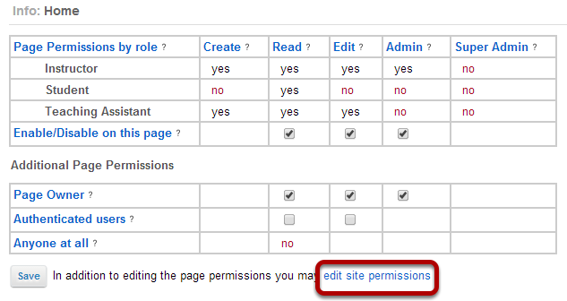 Edit site level permissions.