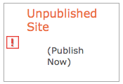 Click the Publish Site button to publish