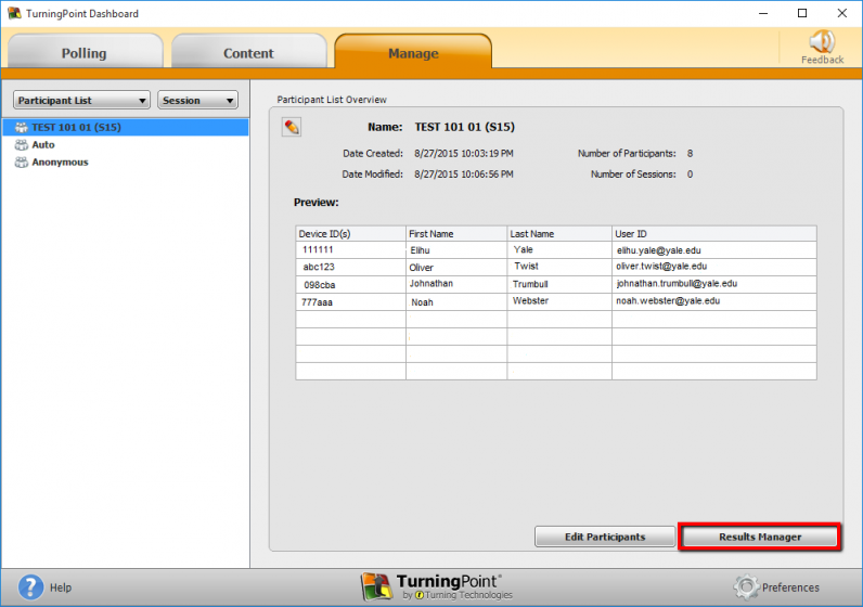 Select Results Manager