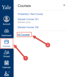 Where do I find my courses?