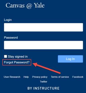 I forgot my password - How can I reset my password?