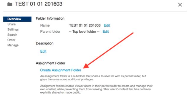 Create an Assignment Folder