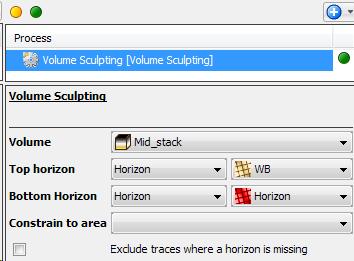 Sculpt volume between horizons