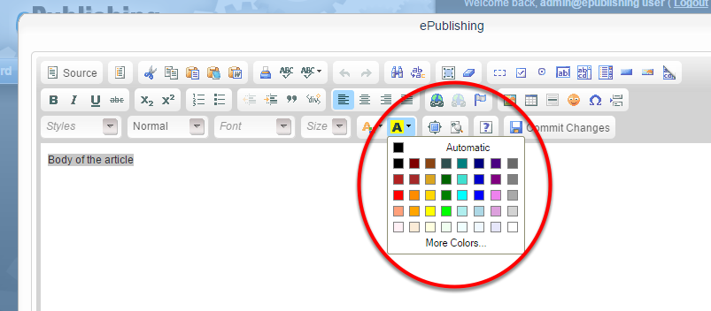 To highlight your text, click on the neighboring icon.