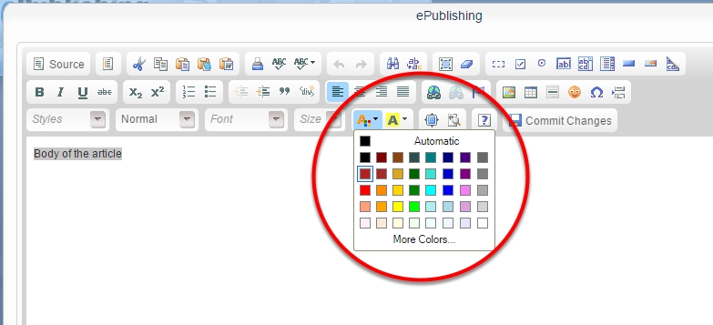 To change the color of your text, highlight it and click on the text color icon.