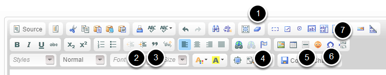 Additional frequently-used formatting you can perform using the WYSIWYG: