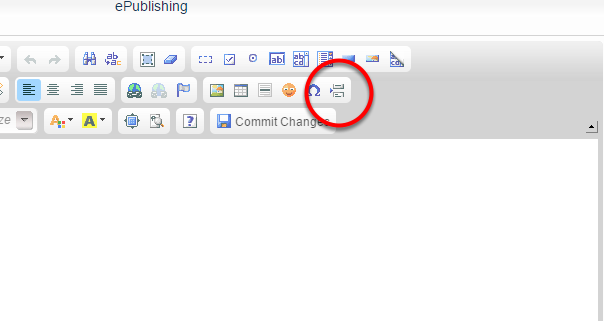 Option 2: You may also add a second page by clicking the paginate icon on the WYSIWYG editor.