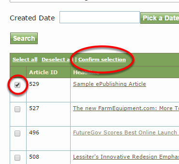 If you select Related Content manually, a pop-up will appear.