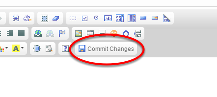 When you are finished formatting your article, click Commit Changes.
