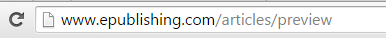 Your article or blog post will open in a new window. Please note the URL, which is generic, is not the final URL.