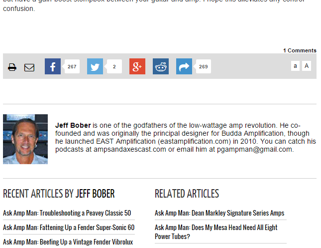 And include the author's bio, if you choose, at the top or bottom of an article or blog post.