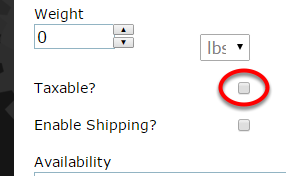If your product is taxable, click the box next to Taxable?