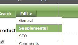 Under Edit, select Supplemental.