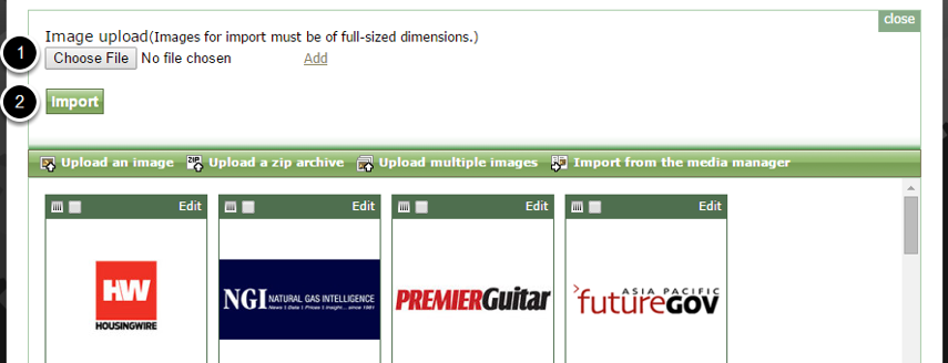 Upload Multiple Images is another way of adding several images to your gallery at once.