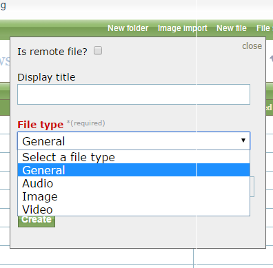 Select your file type.