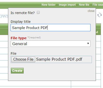 Fill in your Display Title - which will appear as the link after purchase - and select your file from your computer.