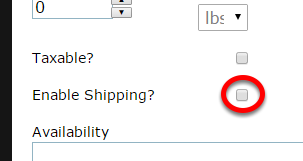 To enable shipping and collect a ship-to address, check the box next to Enable Shipping?