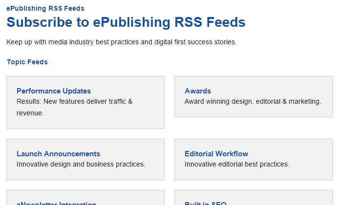 To view feeds that are automatically generated based on your taxonomy, go to YOURDOMAINNAME.com/rss.