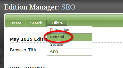 Click Save and return to the first page of your edition.