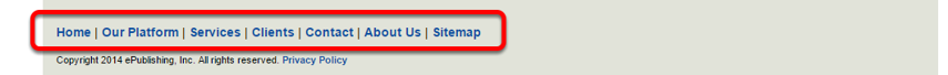 Or this navigation, which is in the footer: