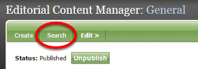 Click Search at the top of the page to select and edit other parts of your Welcome Email.