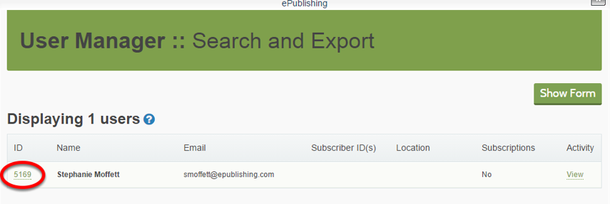 Open the reader's profile by clicking on the ID number beside the name.
