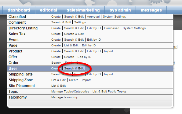 Access the User Manager under Sales/Marketing in your main navigation on your dashboard.
