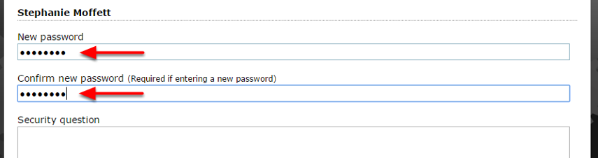 You won't be able to see the reader's password, but you can update it by assigning a new one. Type the new password under New Password, and in Confirm New Password.
