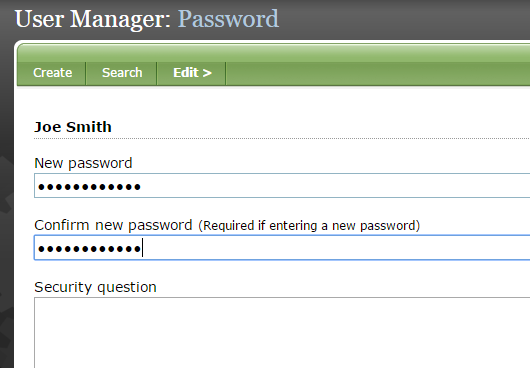 Assign a password. It must be at least 6 characters, with 1 letter and 1 number. Punctuation can be used.