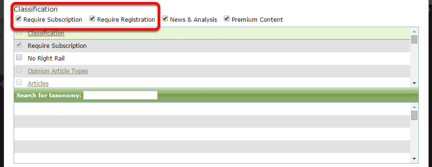 Make sure to tag any articles or blog posts appropriately so that they trigger the metering messages. For example: