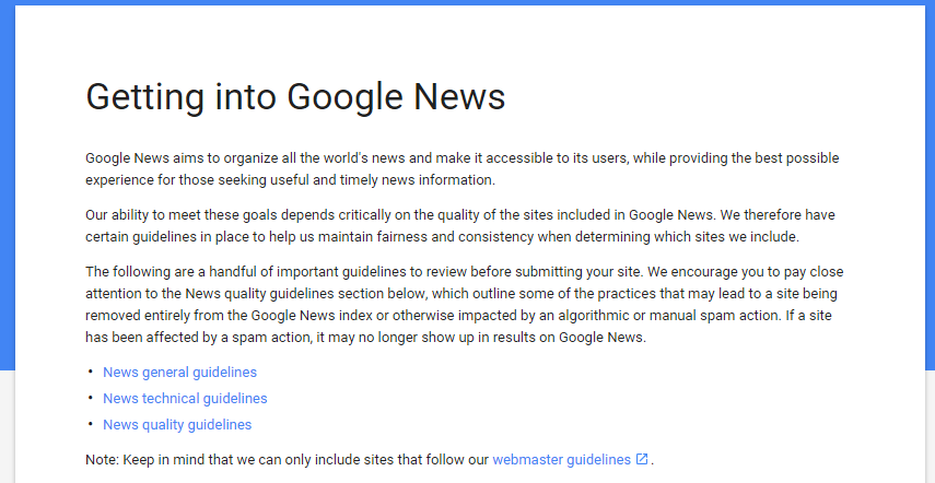 Follow Google News requirements to get listed.