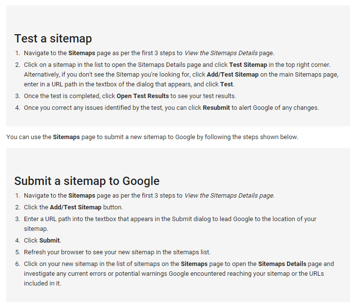 Submit sitemap and Test to verify.