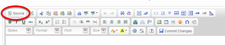 For those special characters that don't appear in the WYSIWYG, click Source in the upper left corner of the editor.