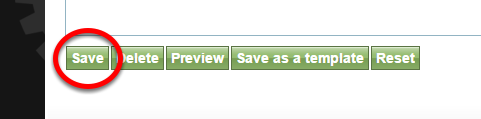 When you are done editing your article, blog post or other content, don't forget to scroll down and click SAVE.