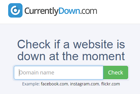 Confirm your website is actually down vs. local Internet or network problems that may be preventing you from accessing the website.