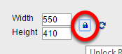 To force the height measurement to appear, click on the lock icon. This is not required. Your image will reset properly as long as you don't manually enter a number in the height field.