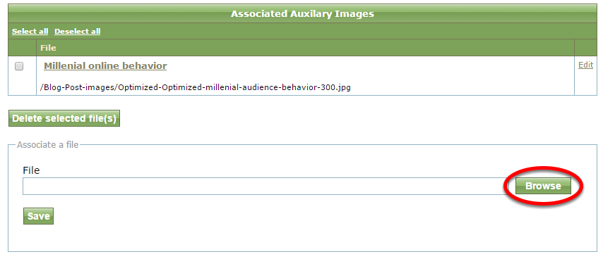 Select your next image by clicking Browse. Follow the same steps outlined above.