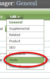 Under the Edit> menu, click Media.