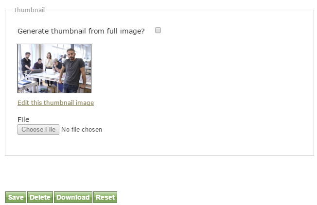A thumbnail will appear after saving the file.